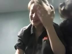 7 min - American hotel maid blows